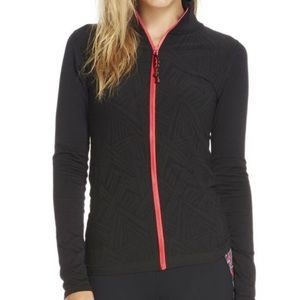 Fabletics 'Nanette Jacket' Full-Zip Black w/ Pink